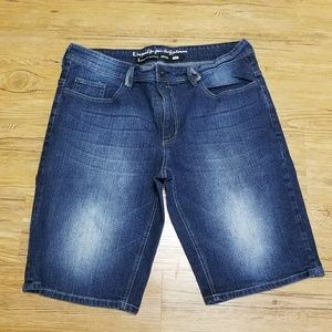 Dark Denim men shorts